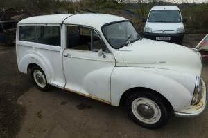 morris minor 1000 traveller 1970 mot and tax for rolling restoration Photo