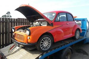 1962 morris minor barn find with v5 for full restoration.does start. Photo