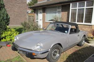 CONVERTIBLE TRIUMPH SPITFIRE MARK IV SPORTS CAR 1300CC SILVER 1971 TAX EXEMPT Photo