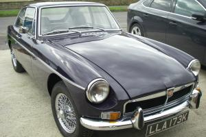 Classic MGB GT 2.0, chrome spoked wheels, black tulip, tax exempt, 1972 Photo