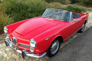 1963 Alfa Romeo 2600 Spider by Touring. Red/Black. Beautiful Restoration. CA car