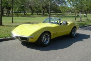 1969 CHEVY CORVETTE CONVERTIBLE STINGRAY NUMBERS MATCHING 350 ENGINE FACTORY AIR