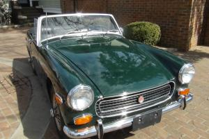 1971 MG Midget, Beautiful, Chrome Bumper, Original, Fun, BRG, BEST DEAL on EBAY! Photo