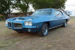 1972 Pontiac GTO, 4 spd. PHS Documented!