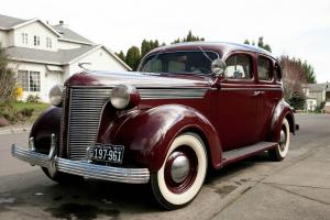 1937 desoto sedan burgandy 4 door original chevy dodge for 1938 ford 4 door sedan
