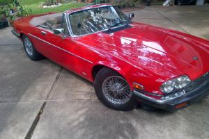 1988 Jaguar XJS Convertible V-12  2-Owners Wires - RED & TAN NO RESERVE