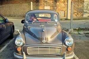 1966 Beautiful Refurbished Taupe Morris Minor with Red Leather Interior