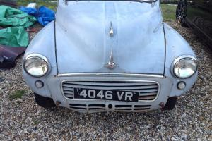 morris minor 1000 classic car light restoration project pre-Reg car