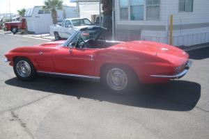 Chevy Corvette convertible red xlnt cond