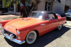 1956 Ford Thunderbird Rare Sunset Coral - Kelsey Hayes Wires - Continental Kit