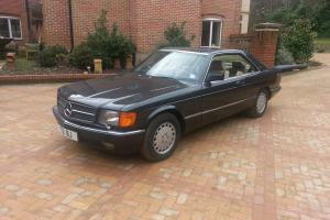 1988 MERCEDES 560 SEC AUTO BLACK W126 LEATHER V8 s class coupe not 400 500 sel