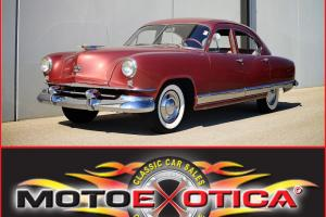1951 KAISER DELUXE - 226 SUPERSONIC ENGINE - BEAUTIFUL MAROON PAINT! - 3-SPEED