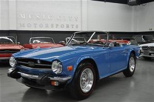 REFURBISHED ACCIDENT FREE RUSTFREE FRENCH BLUE TR6 ROADSTER