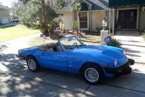 1980 Triumph Spitfire Convertible Blue w/ Overdrive/Hardtop 65,000 actual miles Photo