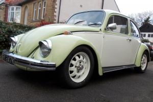Classic VW Beetle 1971 Tax Exempt 1300 Green & Cream Fully Restored
