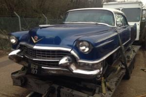 1955 Cadillac Series 62 coupe, PS, PB, PW, PSeat,Californiacar, no rust, project