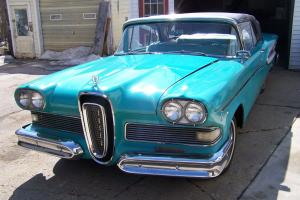 1958 Edsel Citation Convertible Edsel Factory SHOW CAR from Expo Photo