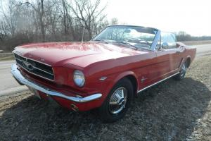 1965 Mustang Convertible V8 4 speed Rangoon Red 100% restored power top driver