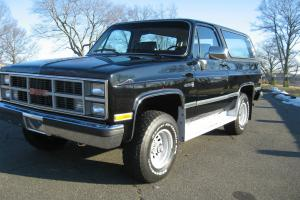 1984 GMC Full Size Jimmy MUST SEE SURVIVOR 4X4 Black with Red Interior