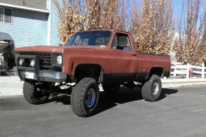 1976 Chevrolet Gmc lifted brown blue truck