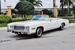 Absolutly beautiful 1976 Cadillac Eldorado Convertible right colors simply sweet