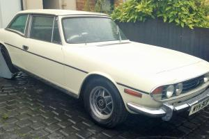 Old English White Triumph Stag 1977 Manual 3.0 Engine Photo