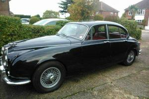 STUNNING MK2 JAGUAR, 1968, BRAND NEW WIRE WHEELS, 3.4, BLUE. Photo