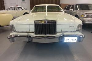 "1975 LINCOLN CONTINENTAL WHITE ""LIPSTICK EDITION"" STUNNING 48,000 MLS FULL MOT"