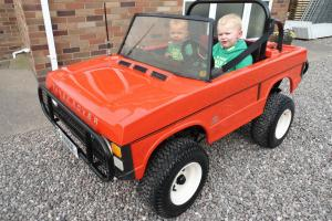 1980's CHILDS 2 SEATER PETROL RANGE ROVER CLASSIC KIDS CHILDRENS TOT ROD,RARE