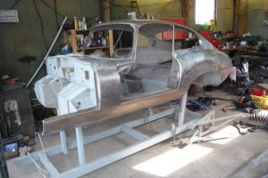 Jaguar E Type Series 1 3.8 FHC Restoration Project, many new old stock panels