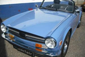 1973 Triumph TR6 UK car,Free road tax,Fuel injection,French Blue Photo