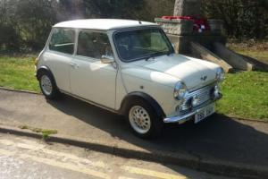 1999 Mini Balmoral only 12,000 miles. Old English White Photo