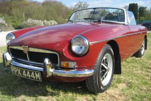 MGB Roadster - 1973 Chrome Bumper and Tax exempt Photo