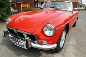 MGB Roadster Convertible 1975 1.8 with Overdrive Chrome Bumpers Beautiful Photo