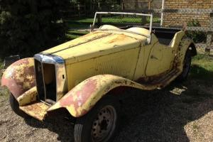 1950's MGTD rolling project vehicle
