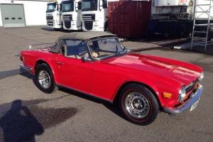 Triumph TR6 1974 US Import Converted Red