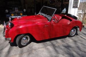 Vintage Rare Red Restored 1951 Crosley Hotshot Super Roadster 3 Speed Convertibe