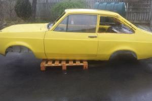 Escort mk2 shell project,doors bonnet and boot included.