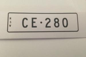 Rare Custom Mercedes Benz CE 280 NSW Number Plates Only $90 PER Year 280CE
