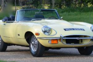 1971 Jaguar E Type 4.2 Litre Roadster Left Hand Drive, LHD. Photo