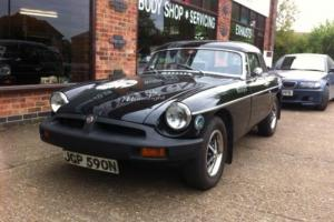 1975 MGB Roadster with hardtop Black