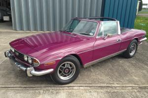 Triumph Stag 1974 Auto Magenta 79,000Miles MOT's from the 70's Extensive History