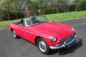 MGB Roadster, 1965, Tartan Red, Detailed Engine Bay, Chrome Bumpers, Excellent Photo