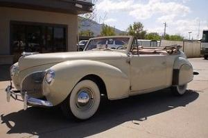 1940 Lincoln Zephyr Convertible collector rag top lead