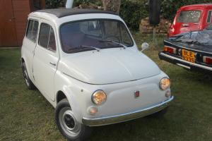"Autobianchi Fiat 500 Giardiniera 1971 with ""suicide doors"" & full-length sunroof"