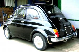 BRILLIANT 1968 FIAT 500 BLACK WITH RED INTERIOR SUPER USEABLE ECONOMICAL CLASSIC