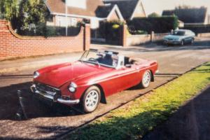 MGB ROADSTER 1972. Flame Red. Rebuilt in 1993. Years Tax & MOT Photo
