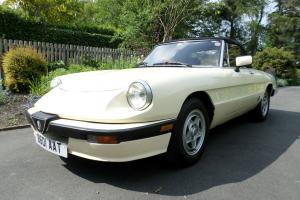 alfa romeo spider 105 Series 3 2 Litre Fuel Injection RHD