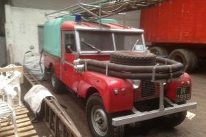 "1956 Series 1 Land Rover - 109"" - Fire Engine Photo"