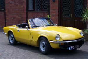 TRIUMPH SPITFIRE IV 1300 CC RESTORED RUST FREE USA SHELL MOT AND HISTORIC TAX
